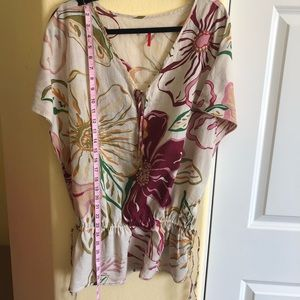 Old Navy XL Cinch Waist Floral Tunic NWOT